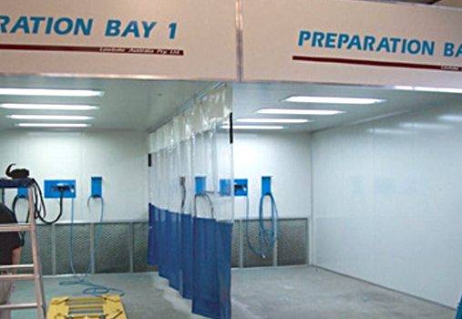 Rear Wall Extraction Prep Bay Spraybooth Prepbays