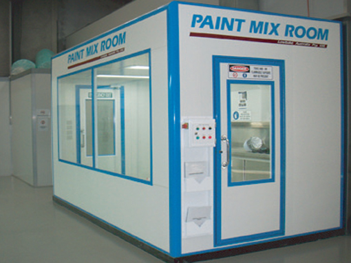 Portable Mix Room Spraybooth Prepbays Mixrooms